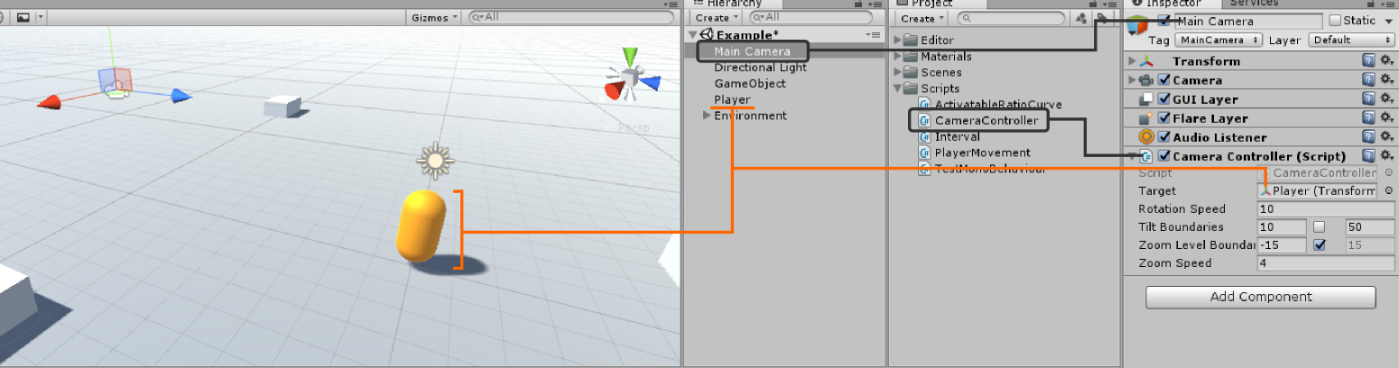 Camera Tracking - Camera controler Unity setup