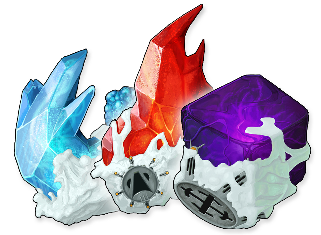 Fire Water Gravity Crystal