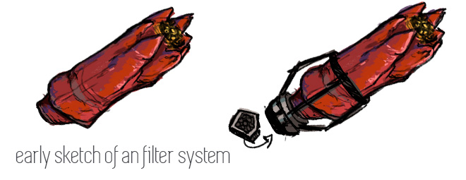 early sketch of an filter system